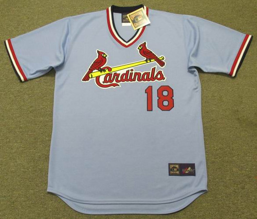 ANDY VAN SLYKE St. Louis Cardinals 1983 Majestic Cooperstown Away Baseball Jersey - FRONT