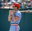 ANDY VAN SLYKE St. Louis Cardinals 1983 Majestic Cooperstown Away Baseball Jersey - ACTION