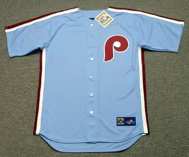 973b8e483 PHILADELPHIA PHILLIES 1980 s Majestic Cooperstown Throwback Away Baseball  Jersey - Custom Throwback Jerseys