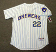 CHRISTIAN YELICH Milwaukee Brewers Majestic Authentic Home Baseball Jersey - FRONT