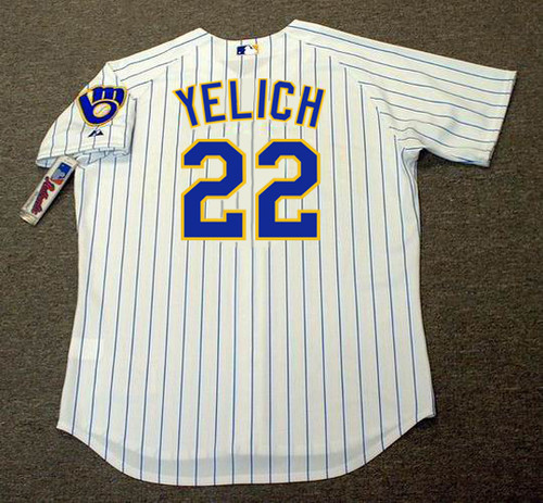 CHRISTIAN YELICH Milwaukee Brewers Majestic Authentic Home Baseball Jersey - BACK