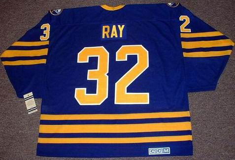 24864b0b6c6 ROB RAY Buffalo Sabres 1992 CCM Vintage Throwback Away Hockey Jersey - Custom  Throwback Jerseys