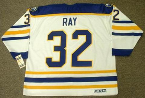 0ed89e07a ROB RAY Buffalo Sabres 1992 CCM Vintage Throwback Home Hockey Jersey ...