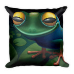 Square Pillow Happy Frog