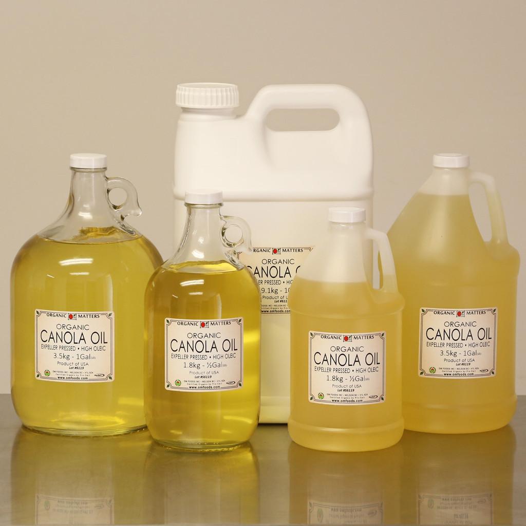 ORGANIC CANOLA OIL, expeller pressed