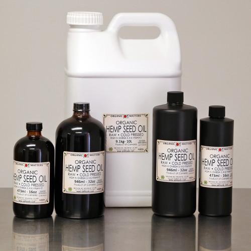 ORGANIC HEMP OIL, cold pressed, raw