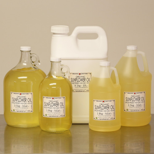 ORGANIC SUNFLOWER OIL, expeller pressed