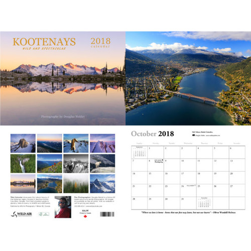 2018 Wall Calendar - Kootenays Wild and Spectacular