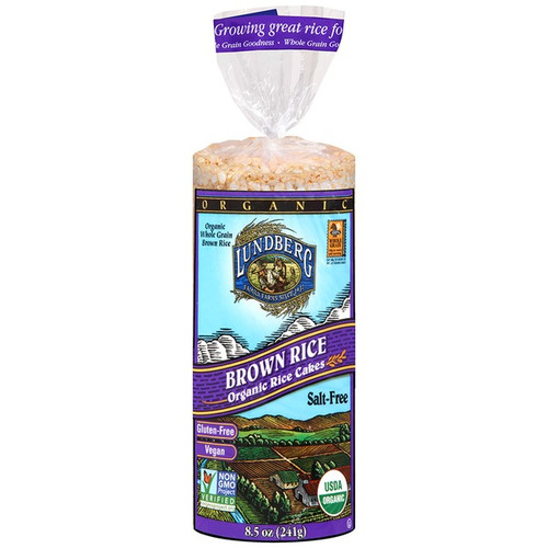 ORGANIC BROWN RICE CAKES, unsalted