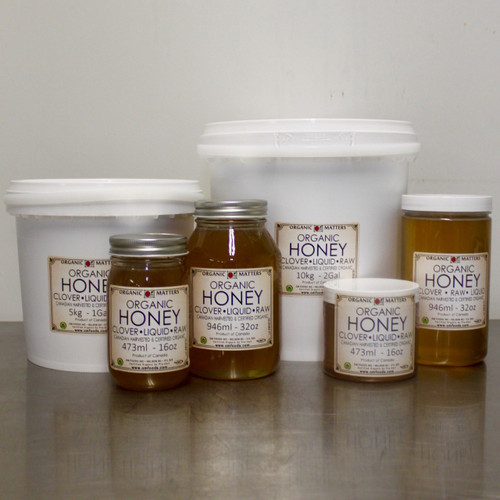 ORGANIC HONEY, Canadian, Clover, raw