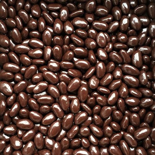ORGANIC CHOCOLATE ALMONDS, dark