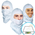 GS Dust Hood- Open-face style, Aqua-blue or White, $1.48 ea, 100 hoods per pack