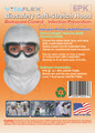 BioSafety White, Full-Cover Hood, 6 Hoods in a Pack, 3 X 6PK