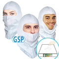 GSP Spray Hood, Open-face style, Aqua-blue or White, $1.86 ea, 50 hoods per pack