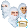 GS Dust Hood, Open-Face style, Aqua-blue or White, $1.15 ea, 400 Hoods Bulk Case