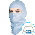BioSafety Blue (Open-face) Hood, $2.65 Ea, 50 Hoods in a Dispenser Box