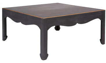 Warren Cocktail Table in Charcoal/Gold Stripe