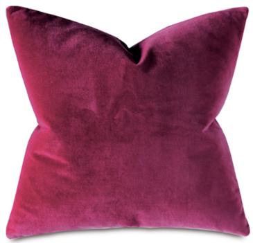 Raspberry Velvet Pillow