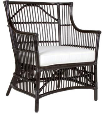 Black Rattan Occasional Chair