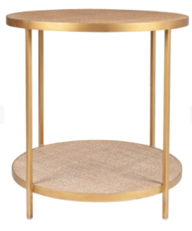 Bronze Textured Side Table