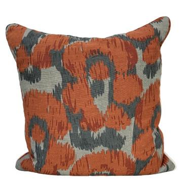 Orange Abstract Pillow