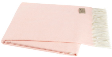 Italian Herringbone Throw - Blush Pink