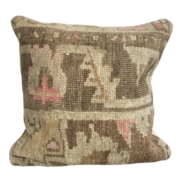 One-of-a-Kind Turkish Rug Pillow #4