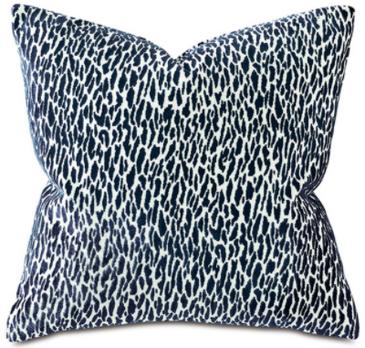 Indigo Animal Print Pillow
