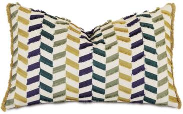 Multicolor Chevron Pillow