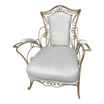 1920's Vintage Iron Garden Chair