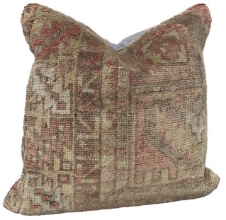 One-of-a-Kind Turkish Rug Pillow #13