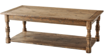 Rustic Oak Cocktail Table (click to see photo for stocked finish)