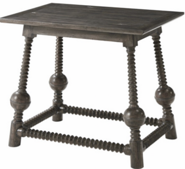 Rectangular Planked Top Side Table
