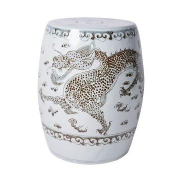 Porcelain Dragon Garden Stool