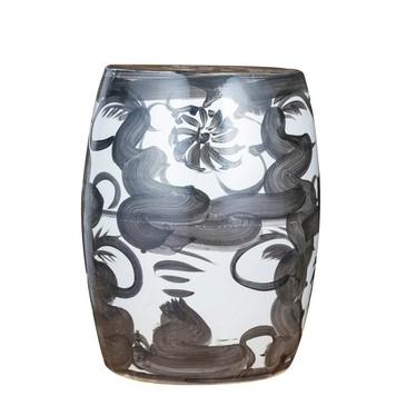 Porcelain Floral Garden Stool