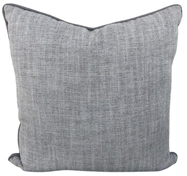 Grey Textured Linen Pillow