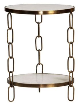 Marble Chain Link Side Table