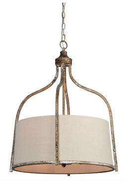 Linen Pendant Light