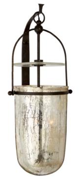 Iron & Mercury Glass Wall Sconce