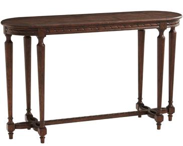 Rustic Oak Veneered Console Table