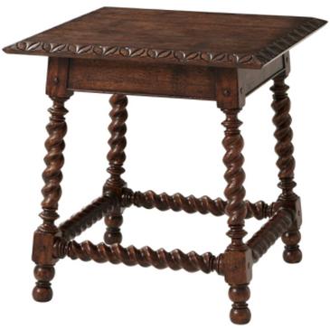 Spiral Leg End Table