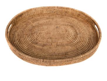 Oval Rattan Tray