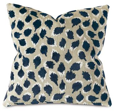 Leopard Spot Pillow (Navy)