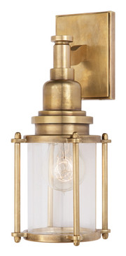Antique Burnished Brass | Clear Glass