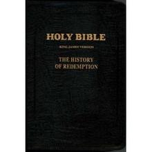 History of Redemption KJV Bible - Large Leather w/ Zipper, Black