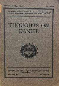 Cover of Thoughts on Daniel
