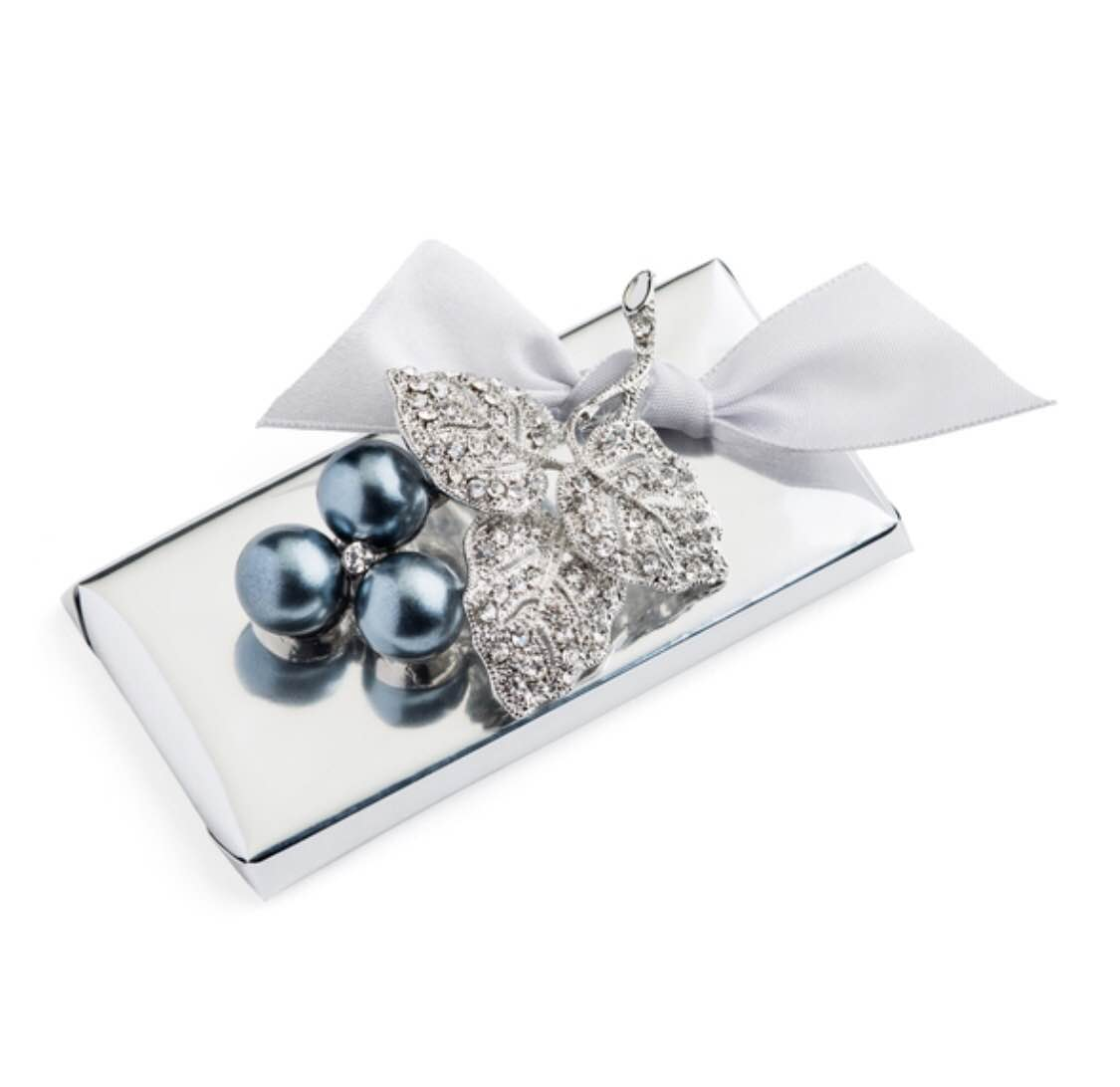 Cherry Cluster Brooch with White Bow Decorated Chocolate