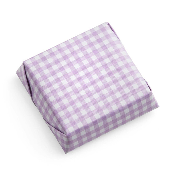 Square Chocolate Bar/Wrapped in lavender-White Checkered
