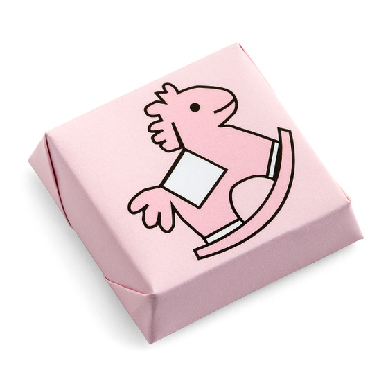 Rocking Horse Chocolate Squares Solid Pattern Pink