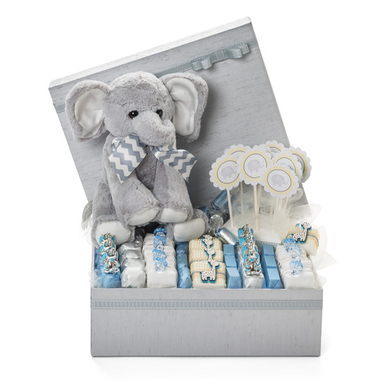 Elephant Theme Baby Boy Chocolate Gift Box/1